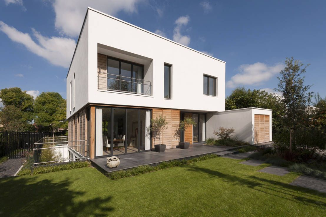 Modern wohnen im Vorort | Zweistöckige häuser, zeitgenössische ...