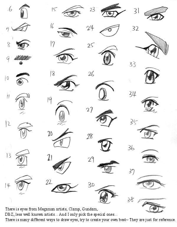 Anime Eyes Character Design References Https Www Facebook Com Characterdesignreferences Https Www Pinte Anatomy Sketches Eyes Artwork Anime Eyes