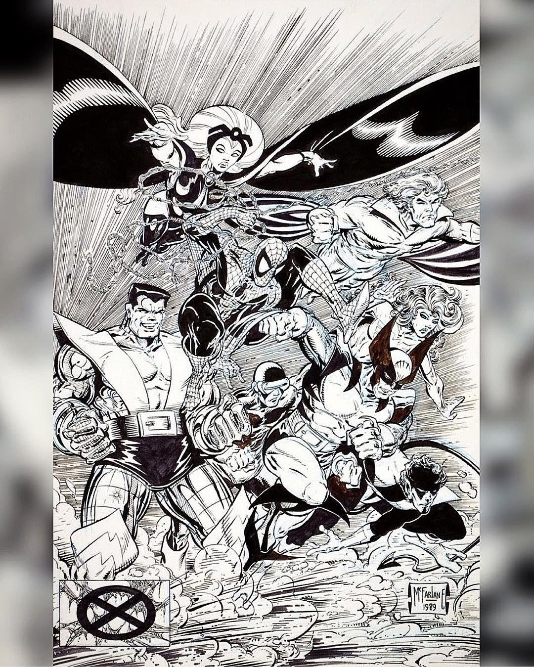 1990 art by Todd McFarlane. Storm Banshee Spiderman