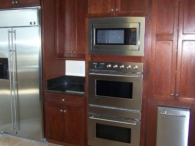 Wall With Microwave Above Double Oven