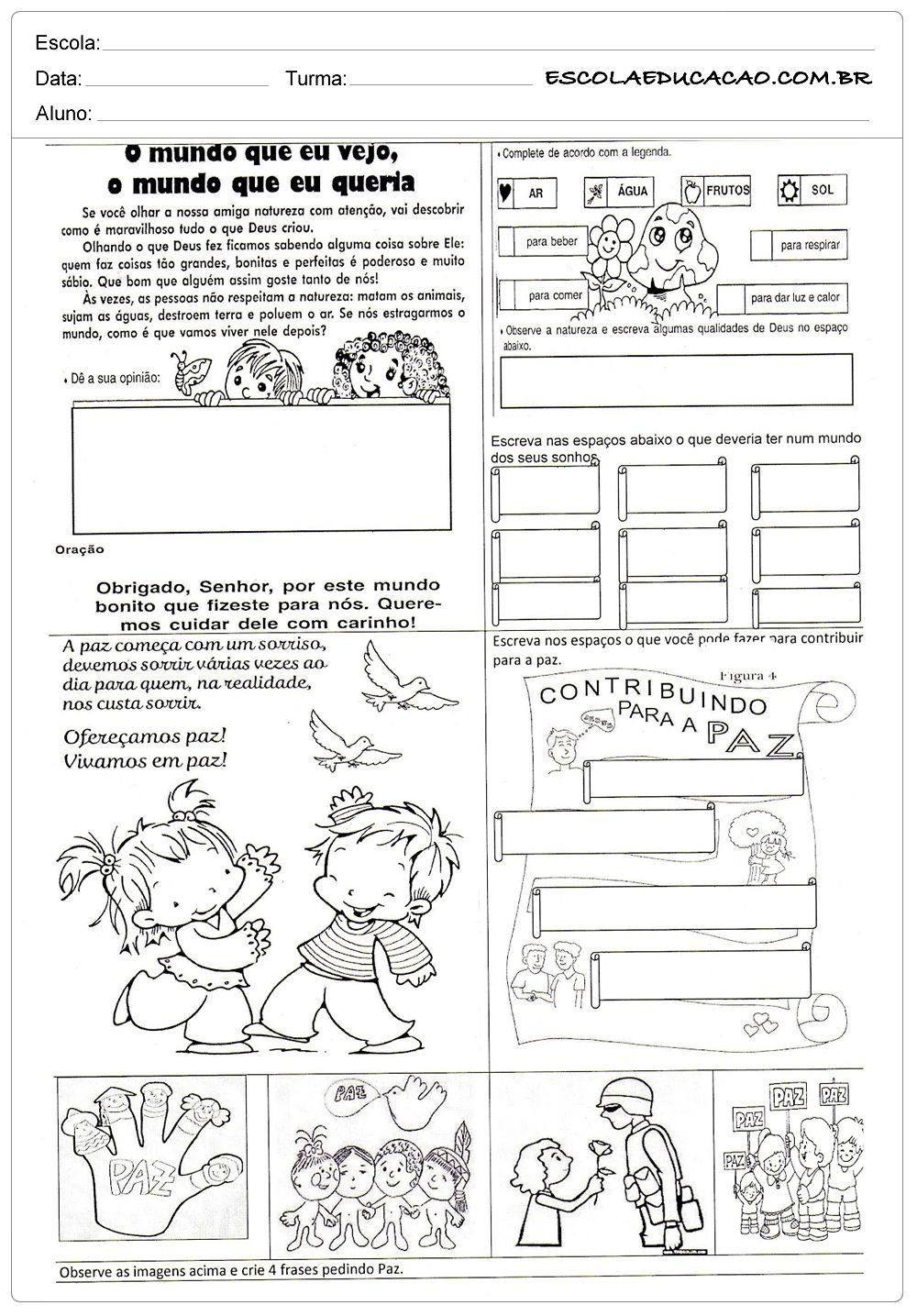Atividades De Ensino Para Imprimir 2 Ensino Religioso