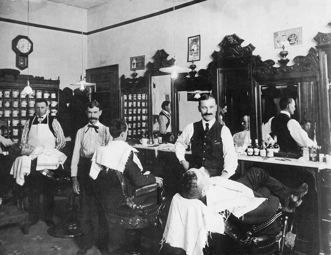 Image result for barber shop, 1900