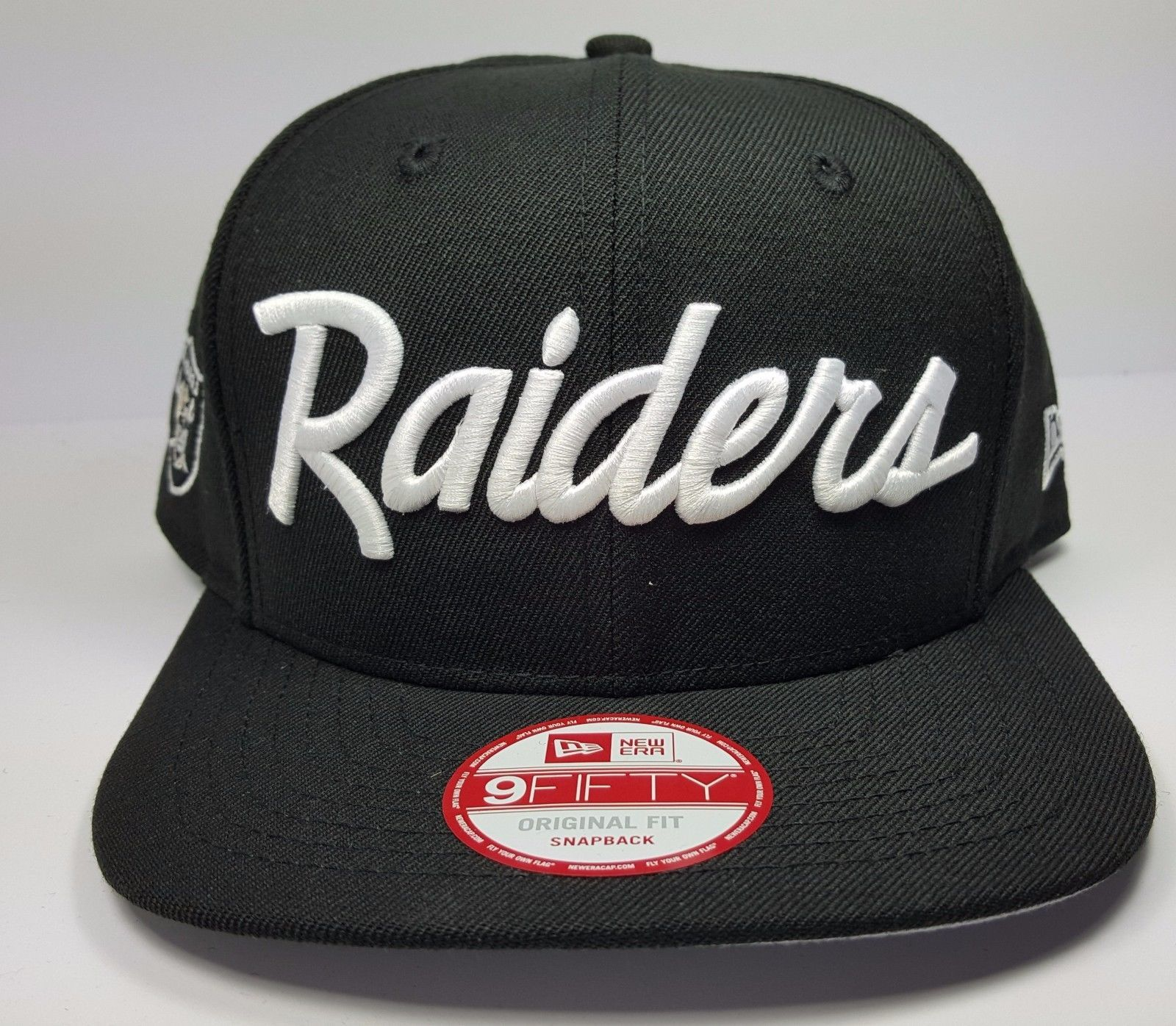 promo code 6dc14 0477e Doesn t say Los Angeles on like the NWA ones but still nice    New Era Los  Angeles Raiders 9Fifty Vintage Script NWA Eazy Logo Snapback Hat Cap   eBay