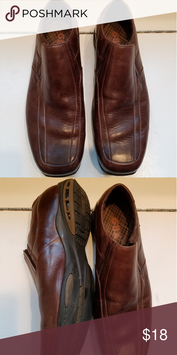 68518121cbb GBX Brown Leather Slip On Loafers 9.5 Worn once for a wedding ...