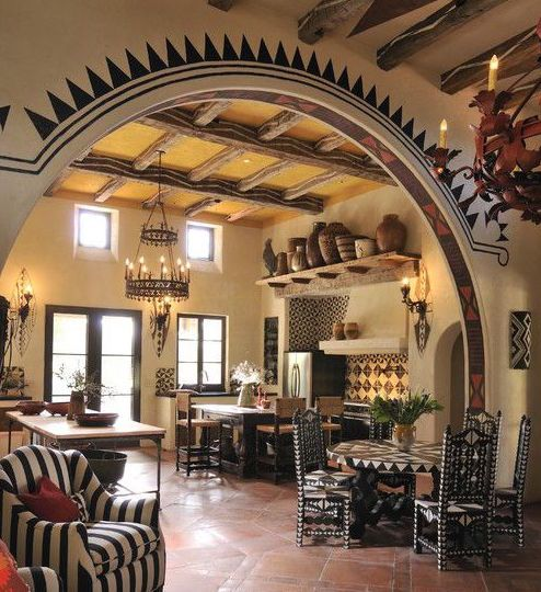 Achieve spanish style room by room spanish design for Spanish style kitchen decor