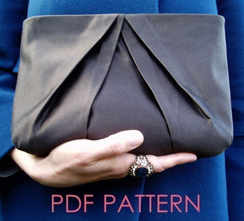 Sewing pattern pleated clutch purse downloadable pdf clutch pleated clutch sewing pattern instant download 600 via etsy jeuxipadfo Gallery