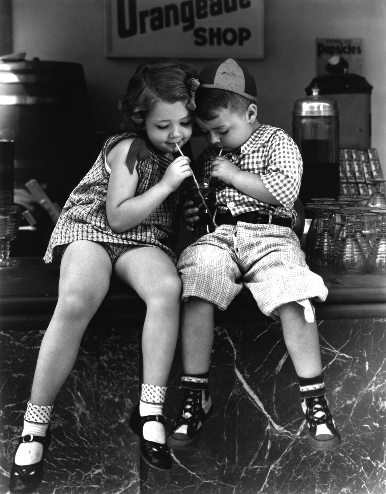Young love…Marianne and Spanky from Our Gang, 1936~♛