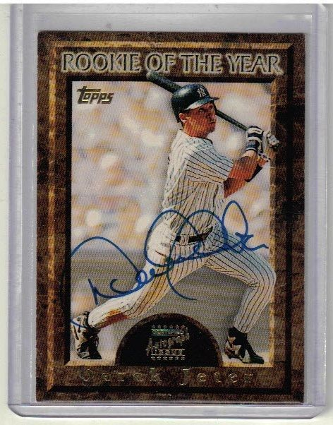 Wow Awesome Card 1997 Topps Baseball Derek Jeter Rookie Of The