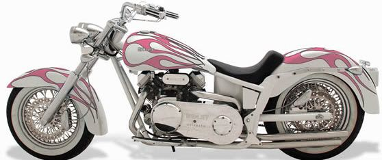 Pearl White Harley With Pink Flames Wish List Harley Bikes