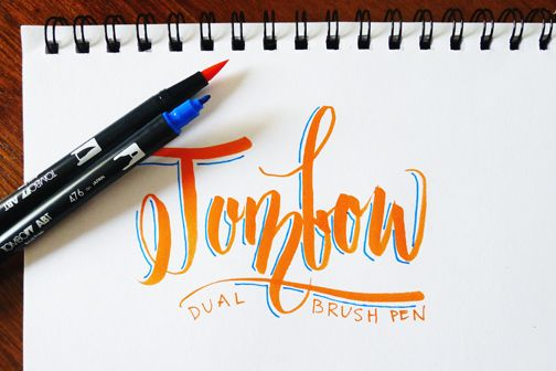 Fozzybook brush lettering tools lettering type