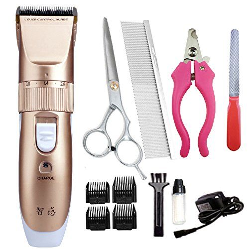 Waterproof Rechargeable Cordless Professional Dog Grooming Clippers Quite Low Noise Cat Hair Grooming Dog Grooming Supplies Dog Grooming Clippers Cat Grooming