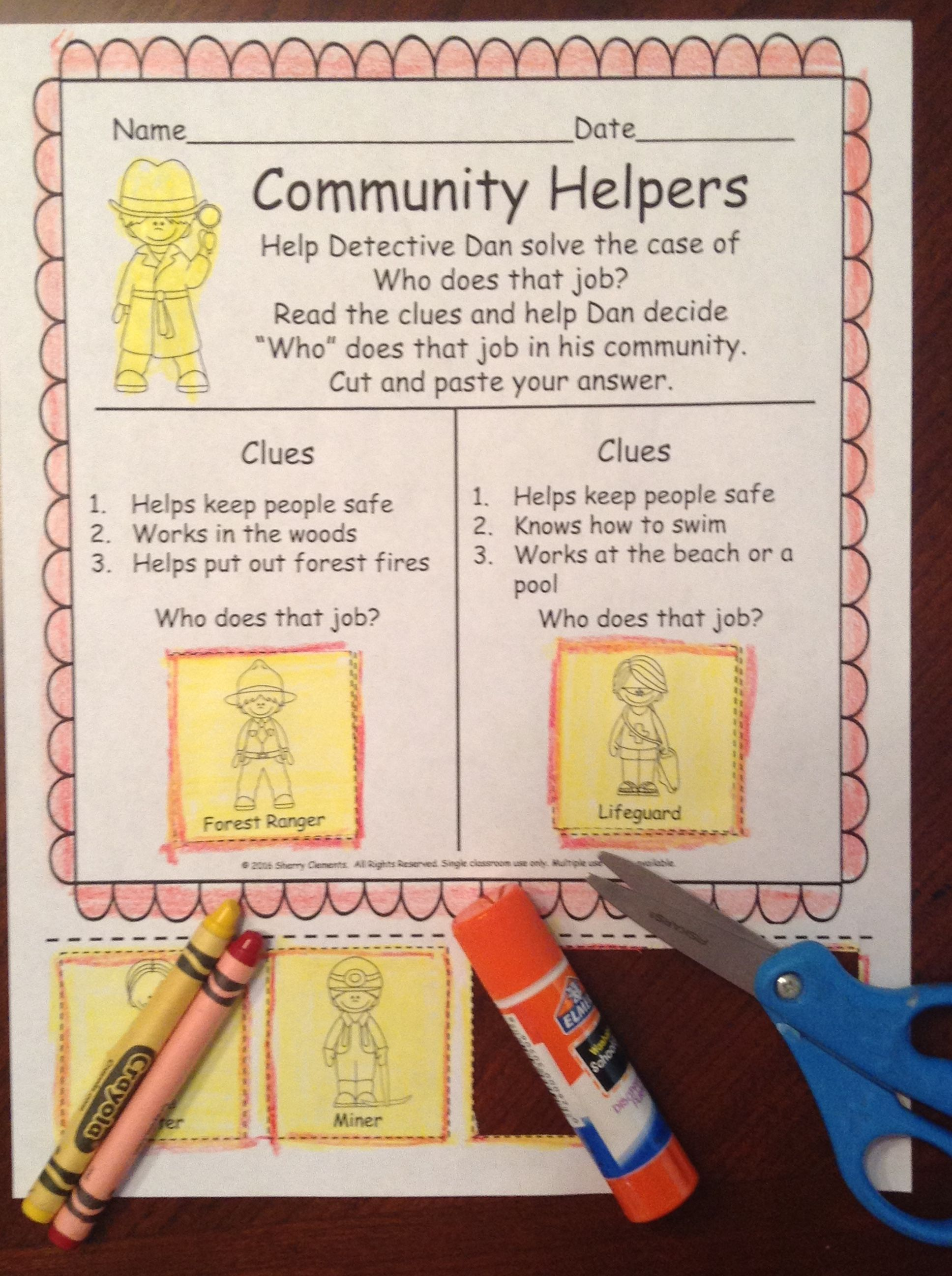Community Helpers Detective Dan And The Case Of Who Does