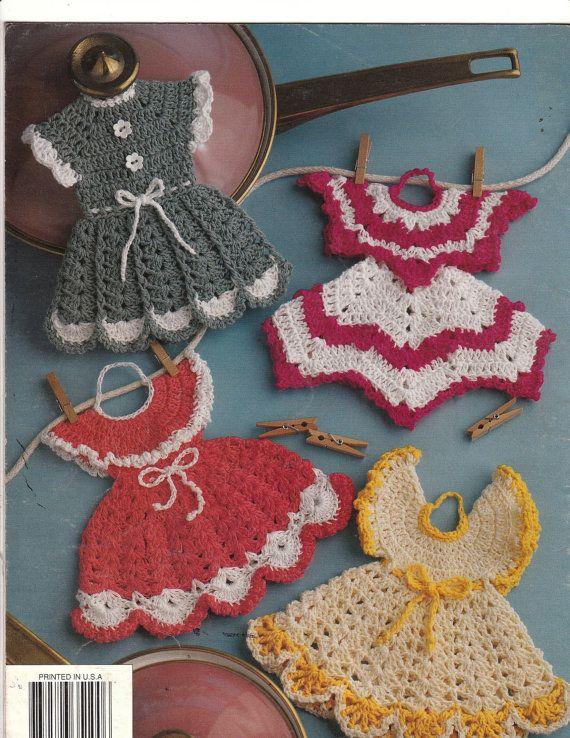 Potholder Fashions Crochet Patterns Dresses by MareCrochets, $8.50 ...
