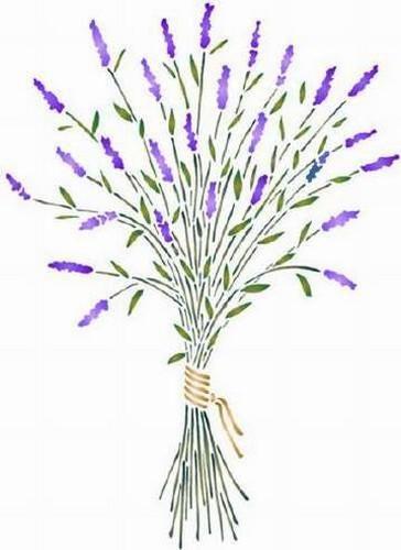 Bouquet De Lavande Pochoir Fleur Bouquet Motif Floral