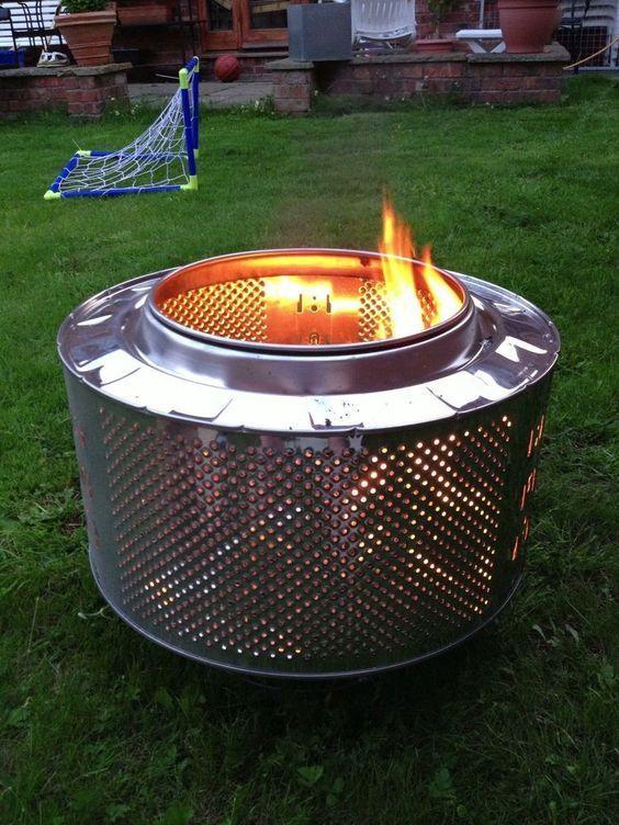 Diy Smokeless Fire Pit From Washing Machine Drum : smokeless, washing, machine, Unique, Barrel, Design, Ideas, Decoration, Functionality, Barrel,, Decor,