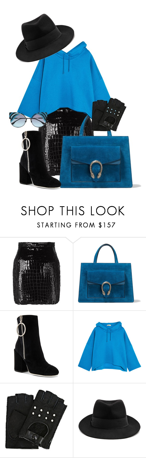 """""""Untitled #1456"""" by bettinakhrn ❤ liked on Polyvore featuring Yves Saint Laurent, Gucci, Off-White, Balenciaga, Karl Lagerfeld, STELLA McCARTNEY and Fendi"""