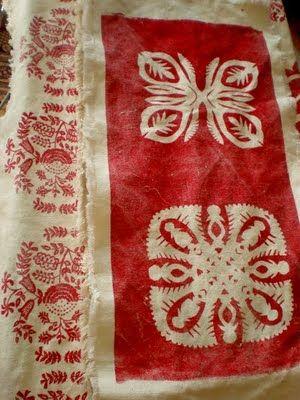 Raw silk on the left and hemp canvass