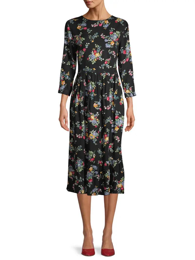 31 Statement Dresses You Can Get At Walmart Black Maxi Dress Outfit Tiered Maxi Dress Maxi Dress Outfit [ 1067 x 800 Pixel ]