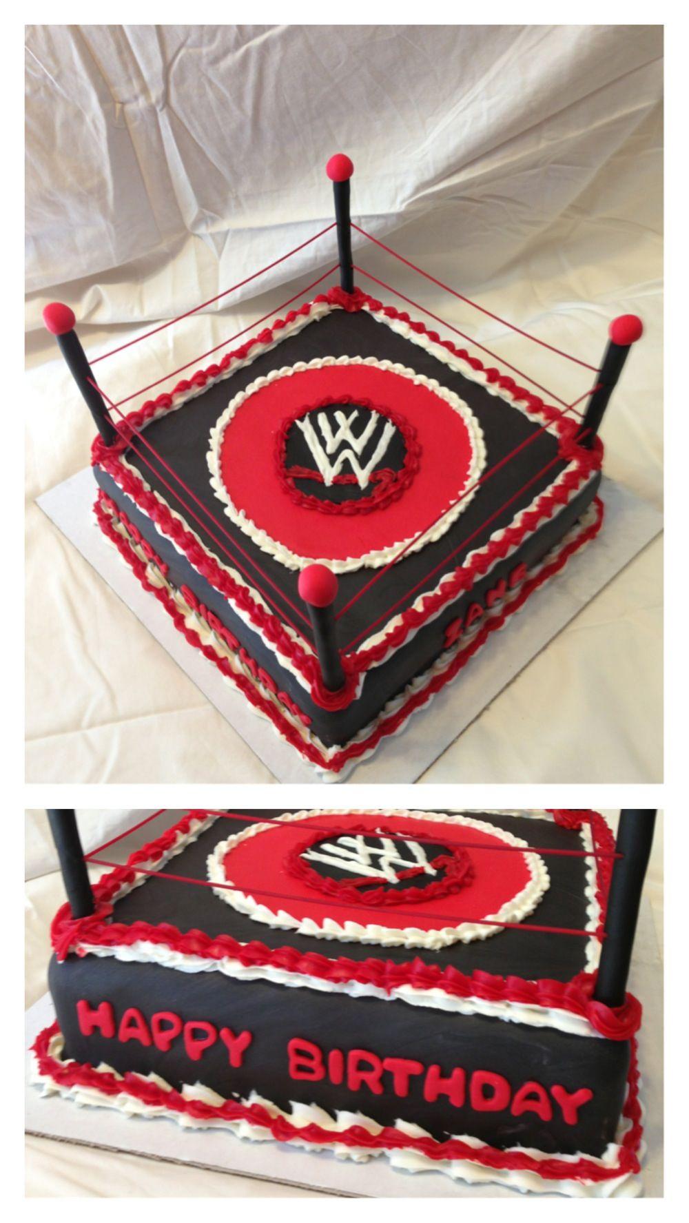 Wwe Wrestling Birthday Cake My Cake Creations Pinterest