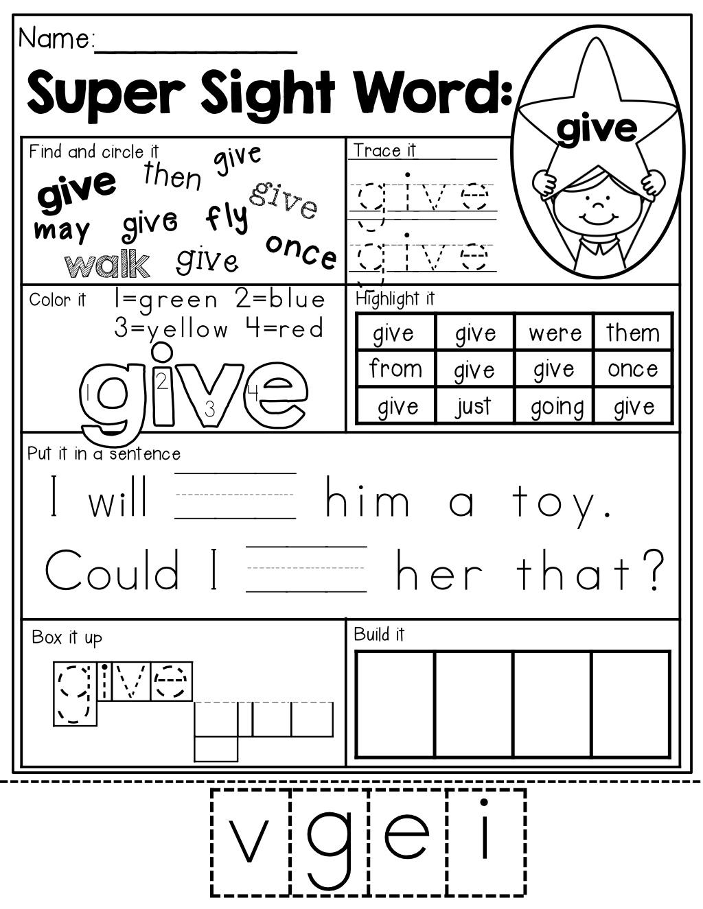 Workbooks kindergarten reading worksheets sight words : Sight Word Super Stars NO PREP (The BUNDLE) | Learning, Sight word ...