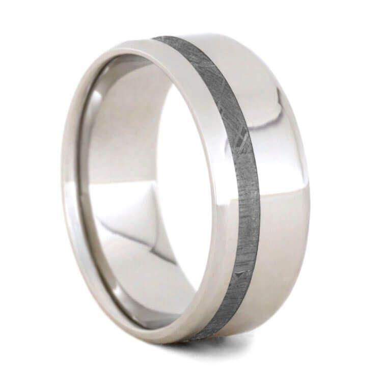 Gibeon Meteorite Wedding Band Platinum Ring For Men 2292