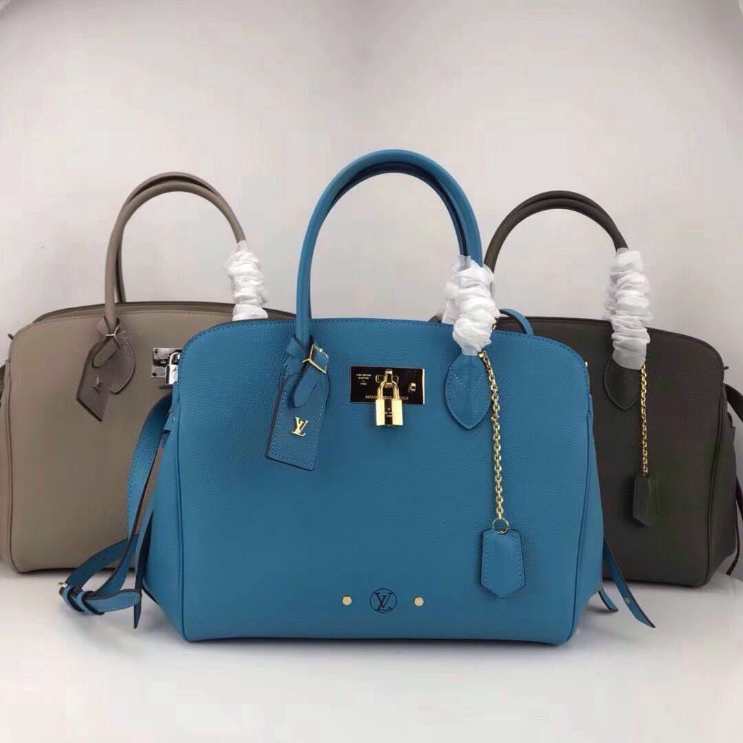 40f9fed0bb50 Louis Vuitton Milla MM Top Handles   Handbags, louis wuitton in 2019