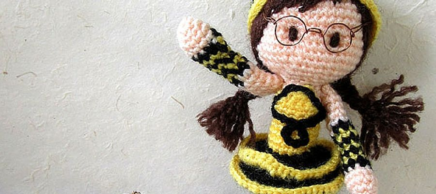 Bee Girl Free Crochet Pattern | Dolls | Pinterest