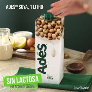 la leche de soya ades tiene gluten