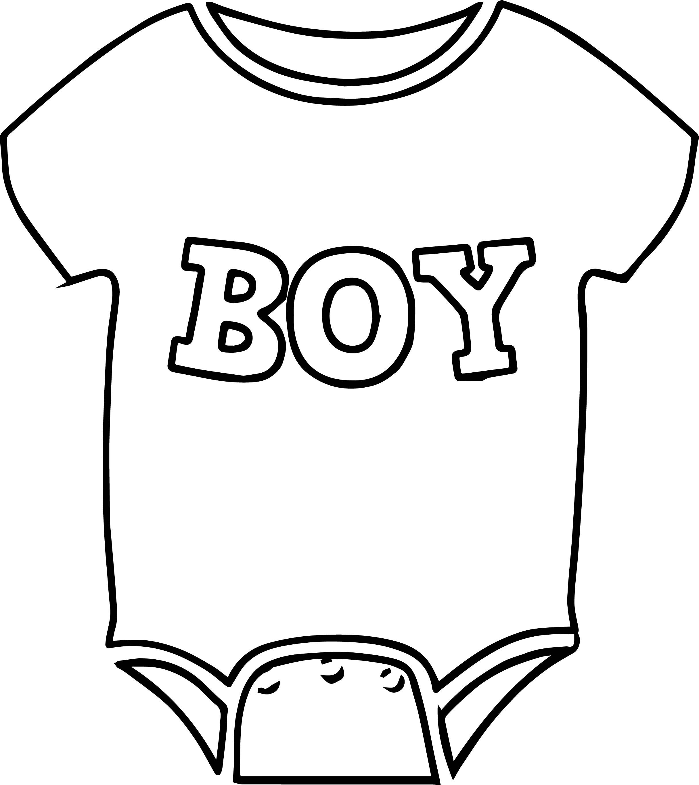 Nice Baby Boy Shirt Coloring Page Coloring Pages For Boys Shirt Drawing Baby Boy Shirts