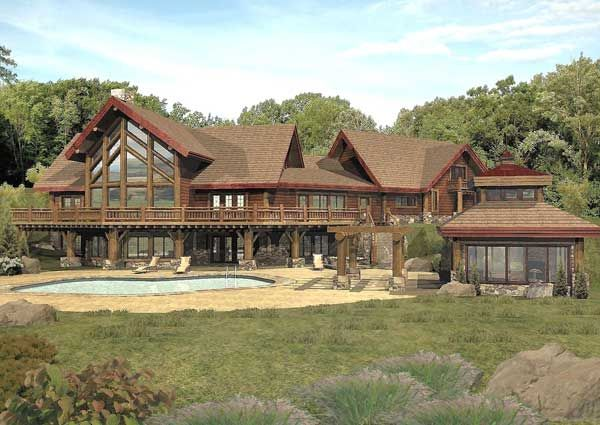 Summerset Timber Lodge Floor Plan By Wisconsin Log Homes Log Home Plans Log Homes Log Home Floor Plans
