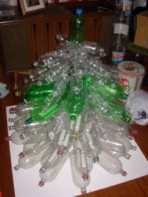 Domestic Kingdom Of Bliss Plastic Bottle Christmas Tree Tutorial