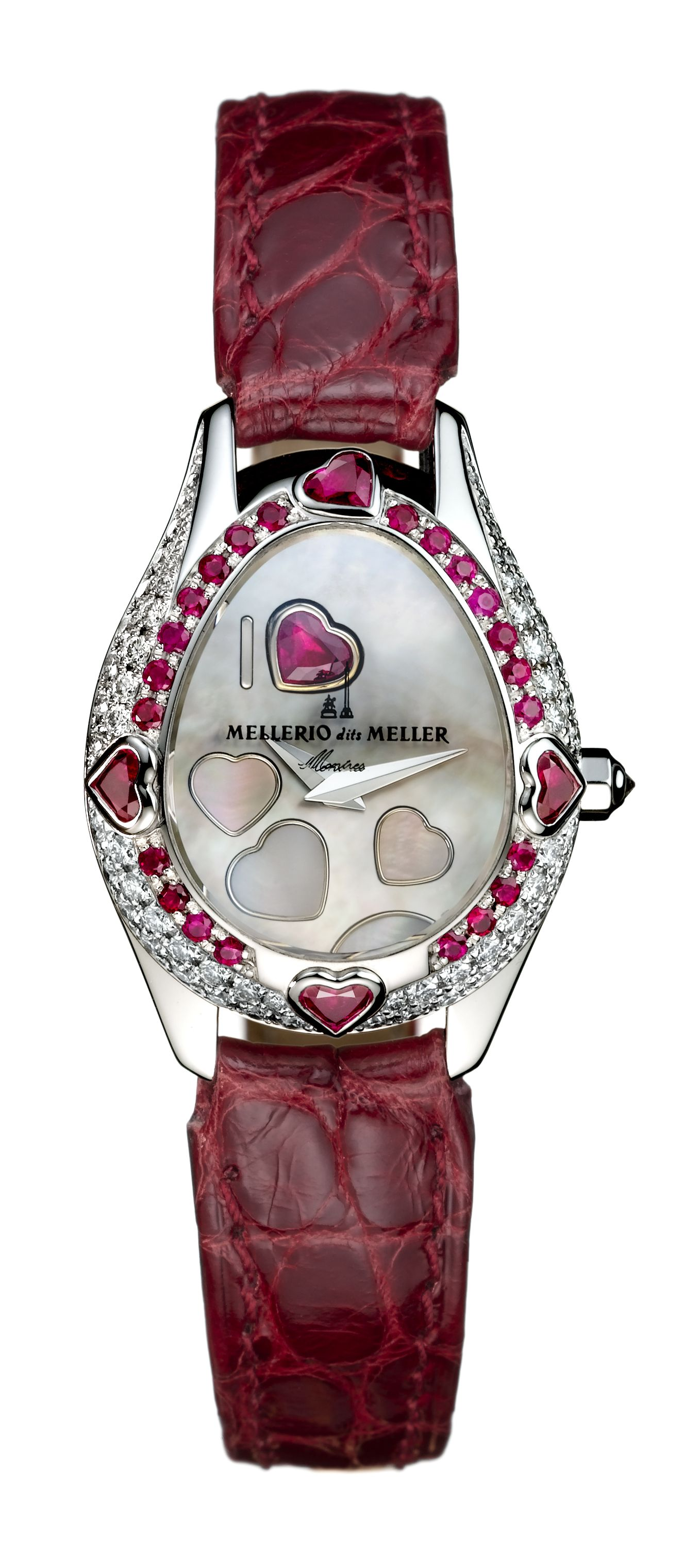 6c45616b7818 The Mellerio 9 de Coeur Watch in white gold and rubis by Mellerio dits  Meller…