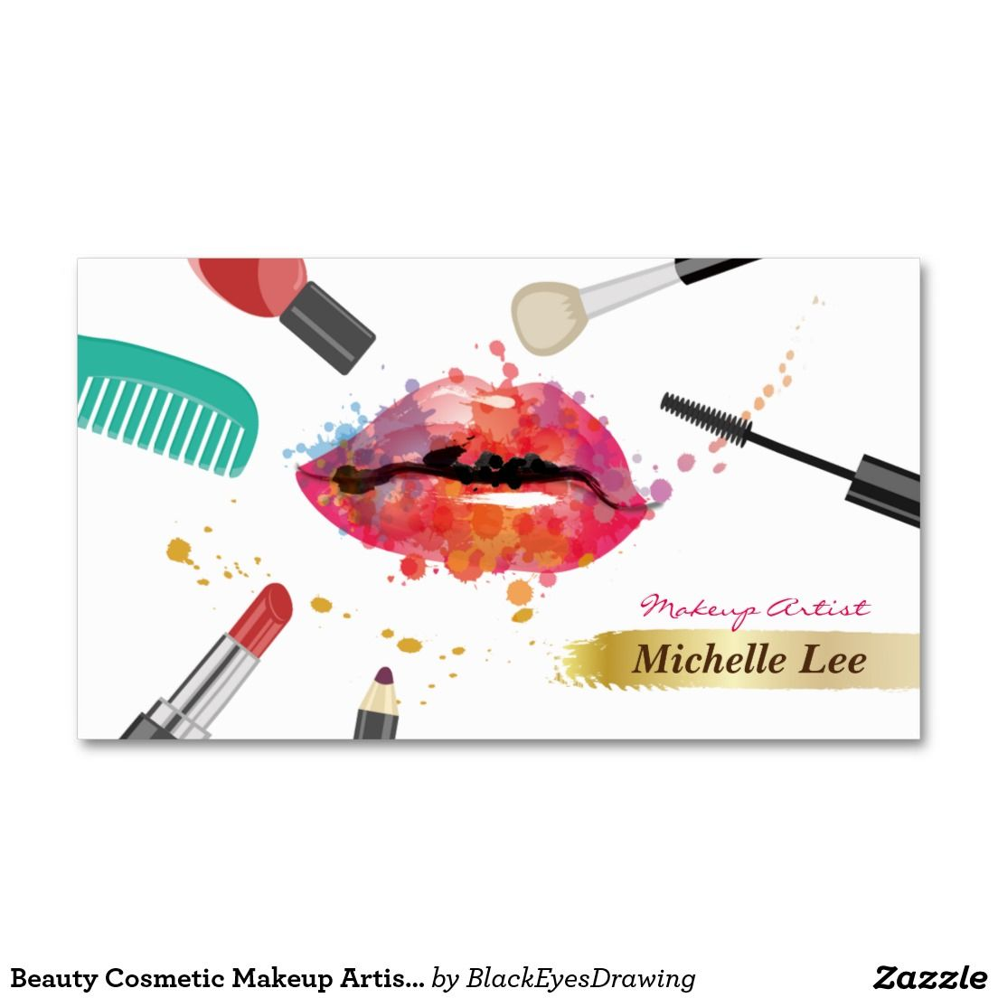 Beauty cosmetic makeup artist appointment card appointments beauty cosmetic makeup artist appointment card business card colourmoves