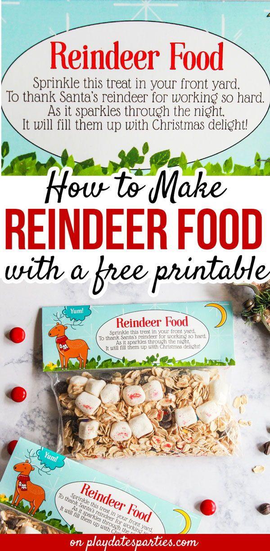 The Cutest Reindeer Food Printable with Poem