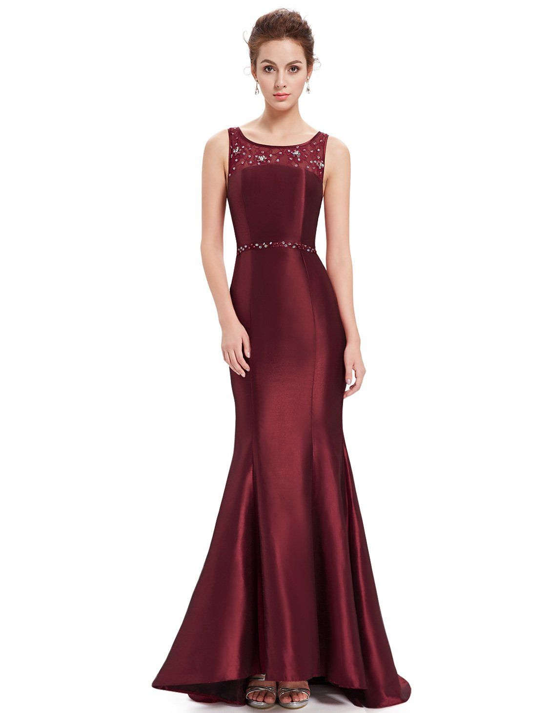 f6e2cece35 Ever Pretty Women s Stunning Trailing Round Neck Fishtail Evening Dress  08511  Amazon.co.uk  Clothing