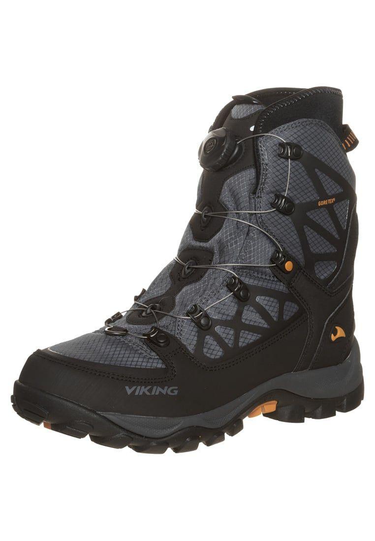 Viking Constrictor Ii Boa Gtx Winter Boots Black Rust Zalando Co Uk Black Boots Boots Winter Boots