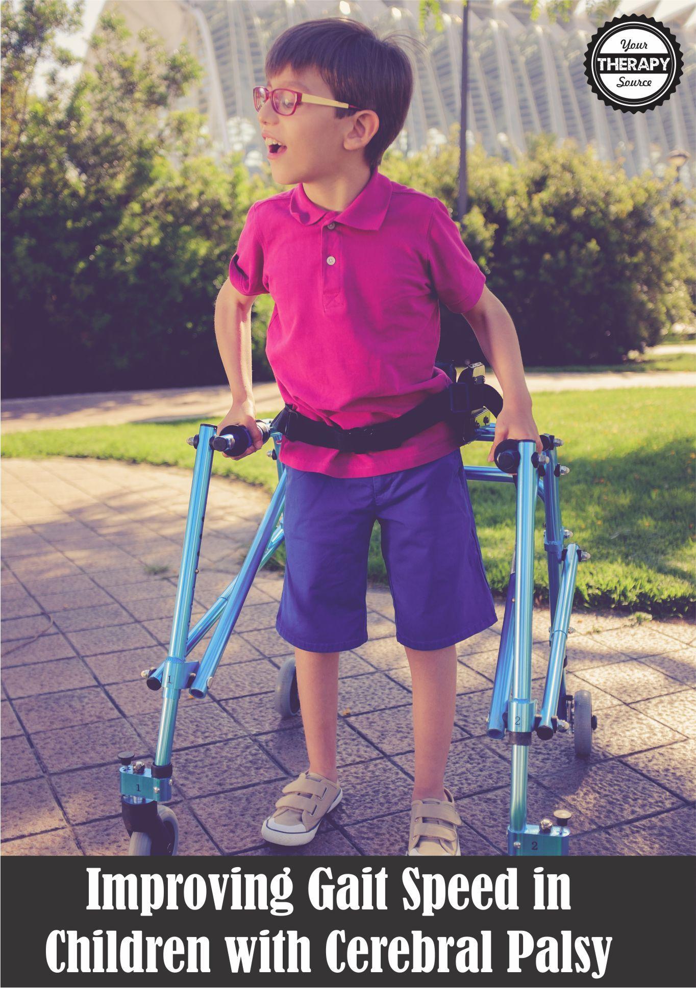 Improving Gait Speed In Children With Cerebral Palsy