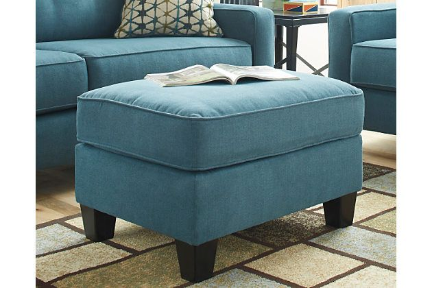 Teal Shayla Ottoman View 1 Ottoman Furniture Furniture Homestore