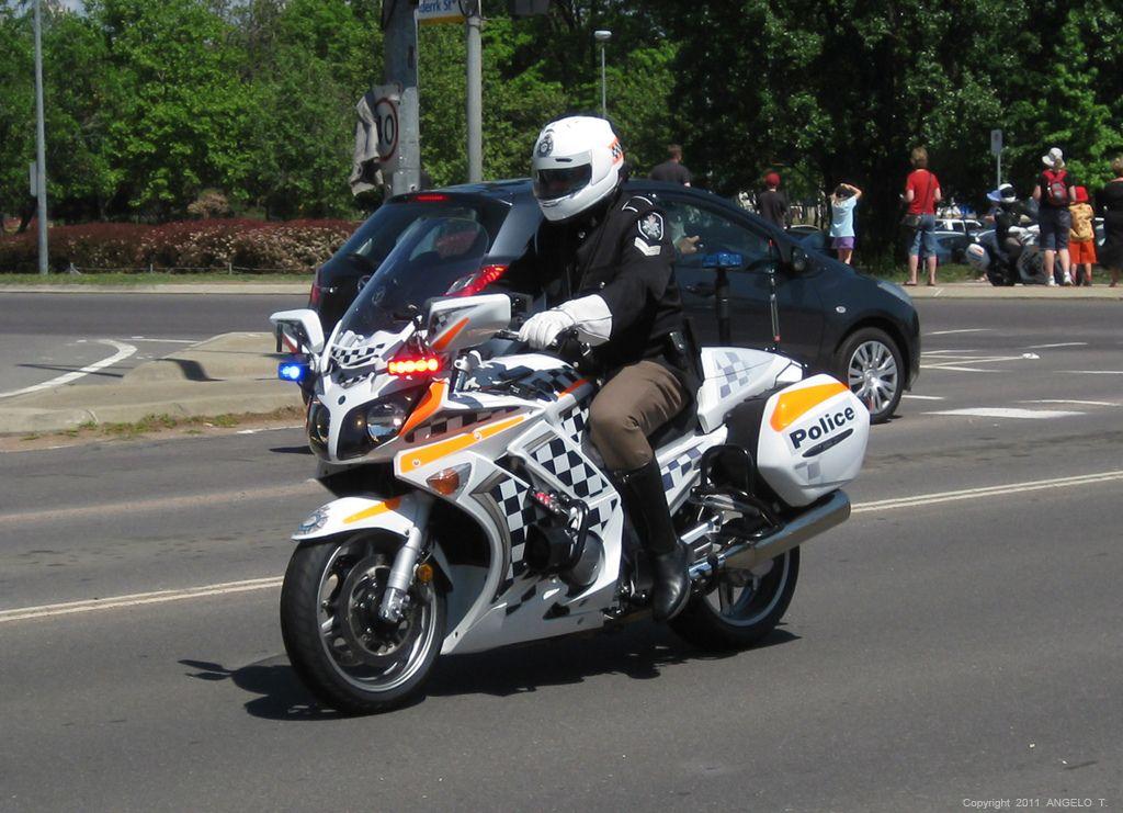 Act Police Motorcycle Royal Visit Police Motorcycle Car Cop