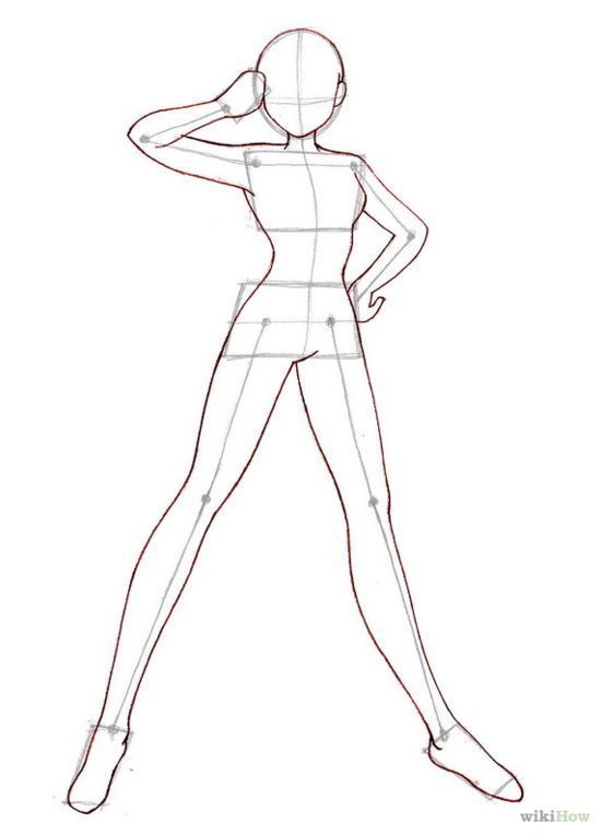 Drawing Body Base : drawing, Drawing:Human, Drawing, Chibi, Bases, Human, Anime, Bodies,, Template,, Drawings