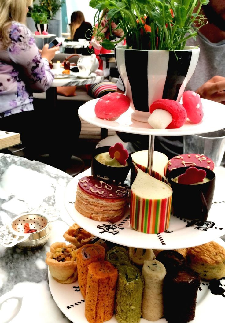 Afternoon Tea At The Sanderson Hotel In London Traditional But With A Twist It S Themed On Mad Hatter Party An Alice