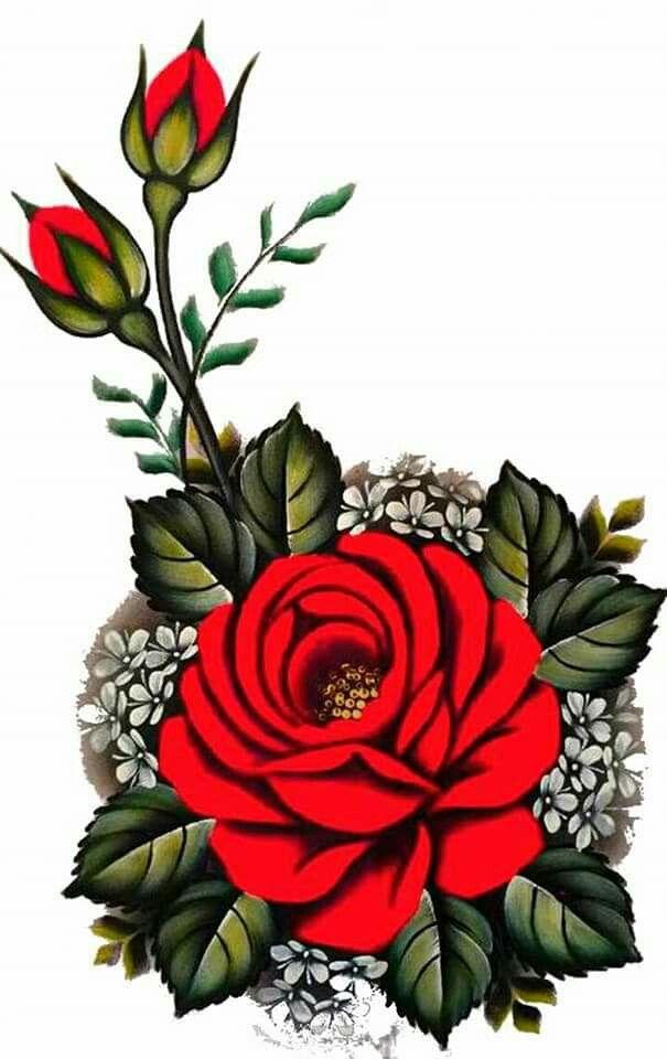 Rosa Vermelha Desenho De Rosas Vermelhas Unhas Artesanais