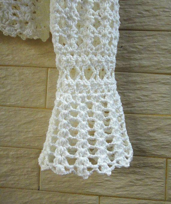White Crochet Crop Top Long Sleeve Bolero Jacket | Boleros, Mangas ...