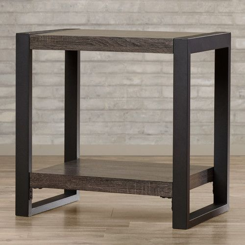 Theodulus Sled End Table With Storage Modern End Tables End Tables End Tables With Storage