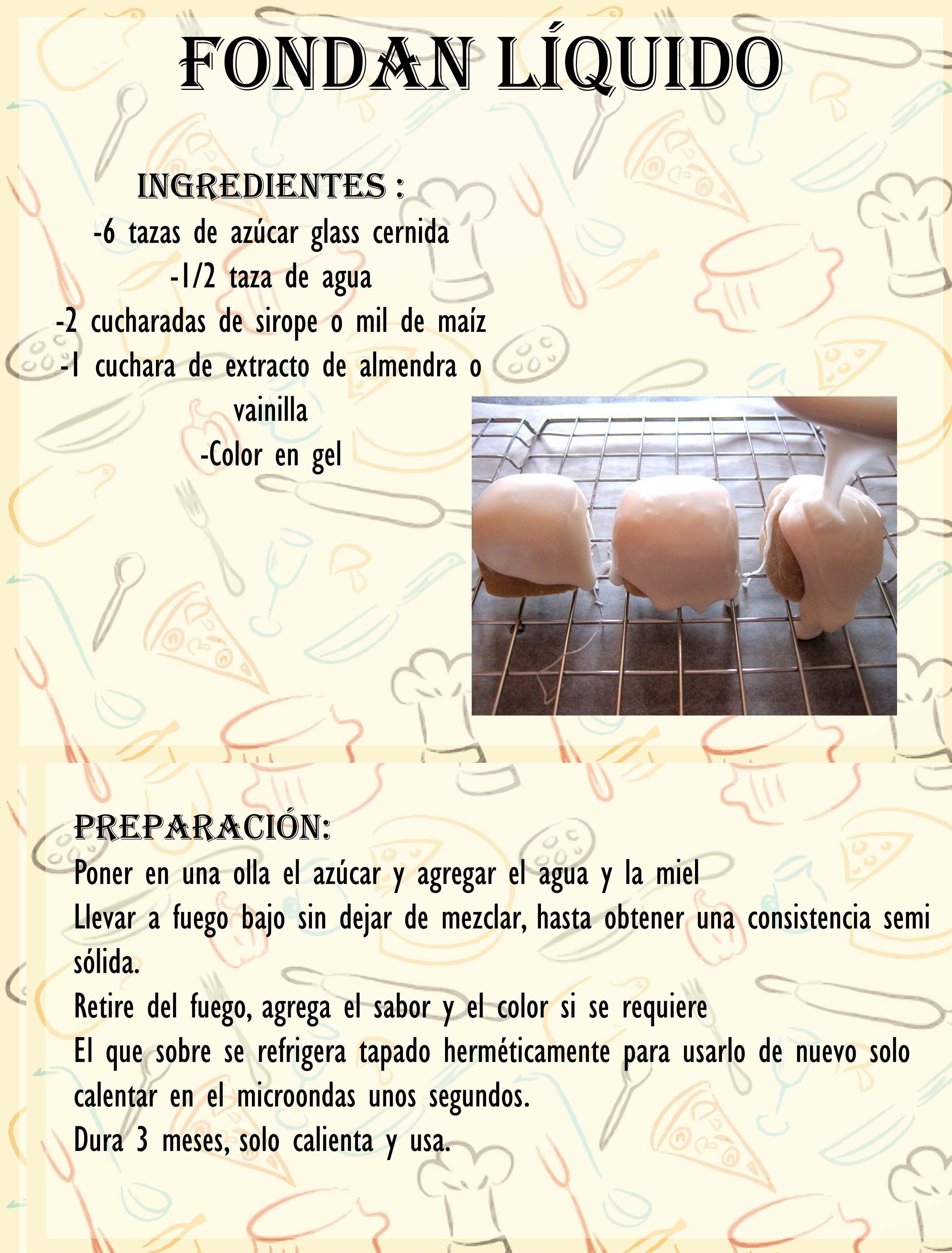 Fondan Liquido Fondant Receta Recetas De Tartas Y Pasteles Cremas Dulces