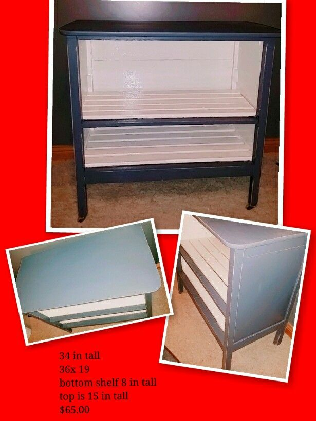 Old dresser made into A TV center.