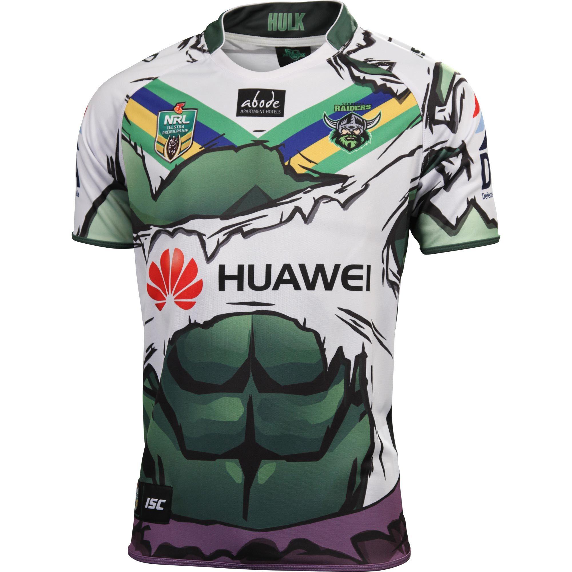 Canberra Raiders 2014 Men s Hulk Jersey - NRL Megastore  26d4073fc