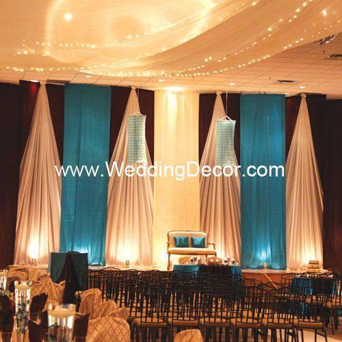 wedding backdrop turquoise ivory by weddingdecor via flickr