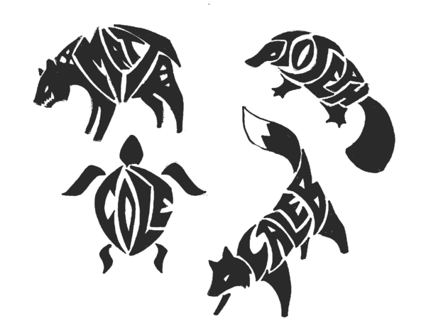 Tribal Name Tattoo Design: Name:Animal Tribal Tattoos 3 By