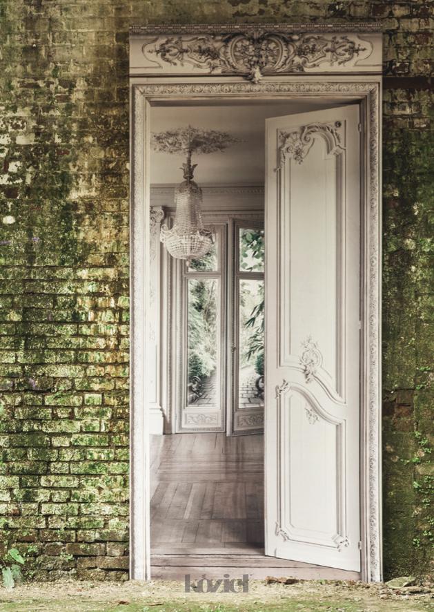 French trompe l 39 oeil wall decor by koziel haussmann inspiration en 2019 papier peint belle - Trompe l oeil chambre ...